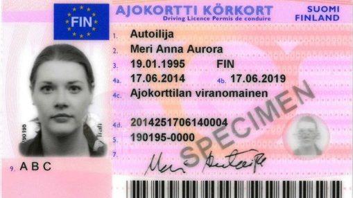 Замена водительских прав в Финляндии