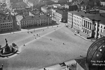 Сенатская площадь. Фото: Signe Brander, Helsingfors 1909