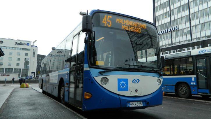 Автобус в Хельсинки