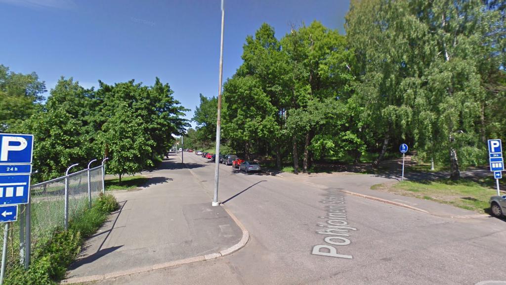 Бесплатные парковки в Хельсинки - Pohjoinen Stadiontie