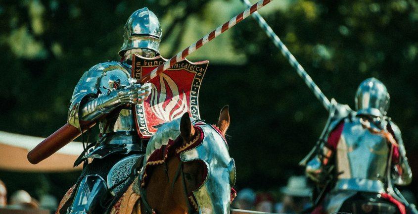 Рыцари на турнире. Фото: Rohan Tallit