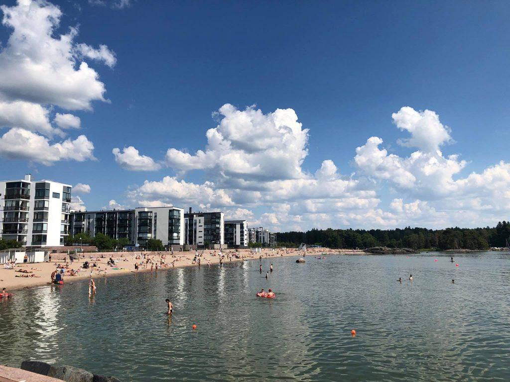 Пляж Ауринколахти