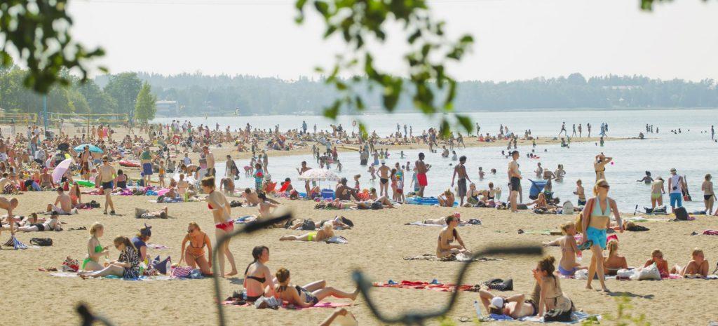 Пляж Хиетаранта в Хельсинки