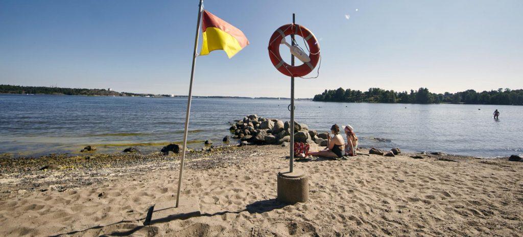 Пляж Мустиккамаа в Хельсинки