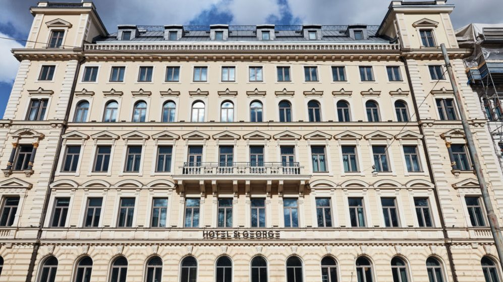 Hotel St George со стороны Yrjoenkatu, Хельсинки