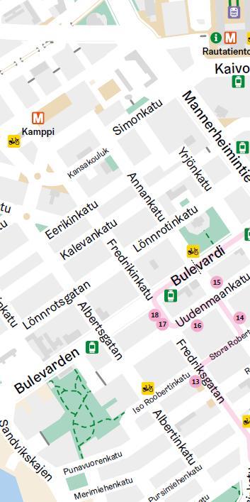 Хельсинки - мода и дизайн. Карта