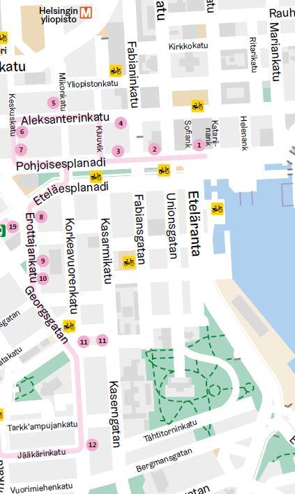 Мода и дизайн в Хельсинки. Карта