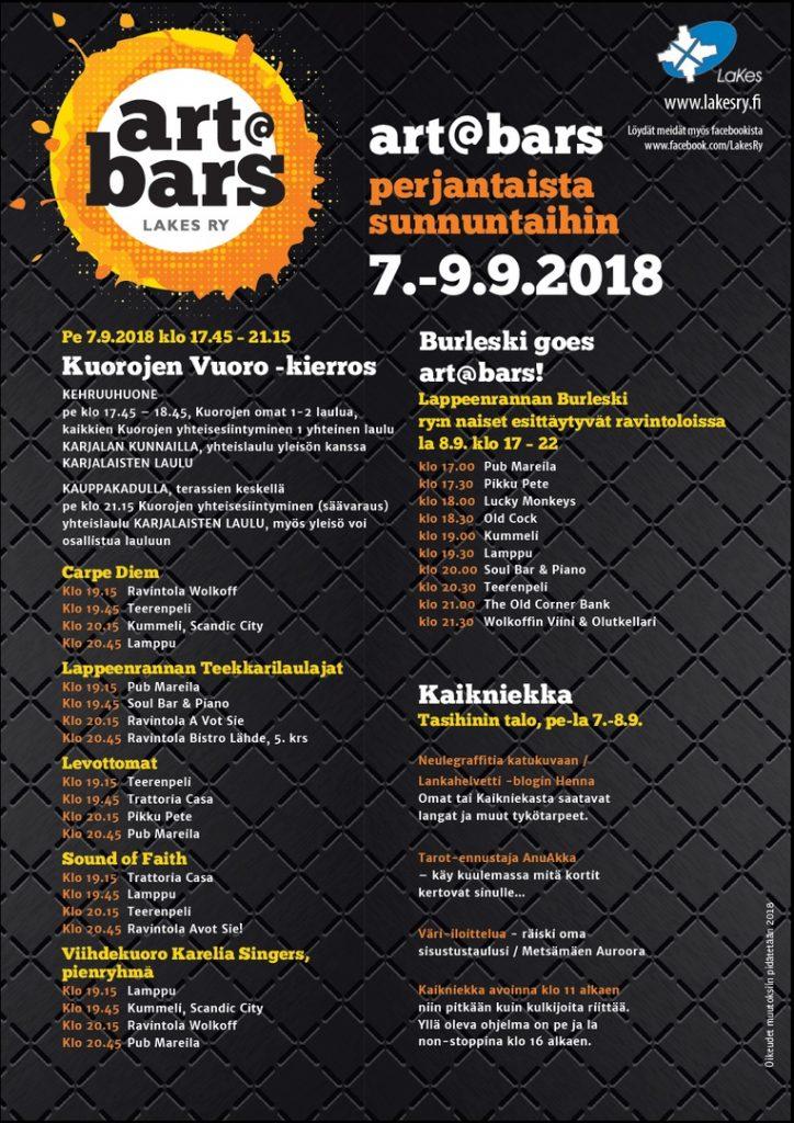 art at bars в Лаппеенранте - программа