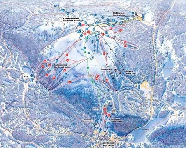 карта склонов Леви (Levi)