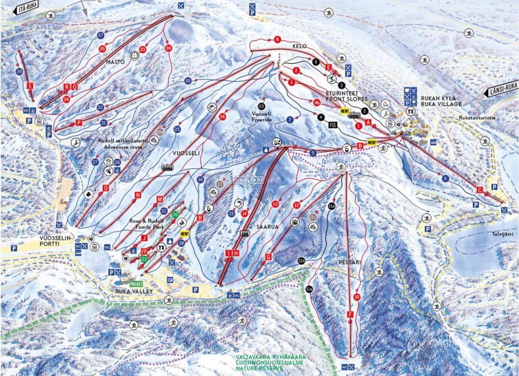 Ruka карта склонов