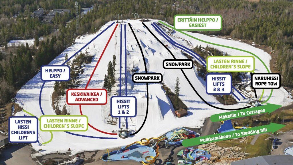 Serena Ski карта склонов