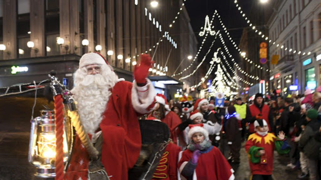 Открытие Рождественской улицы в Хельсинки