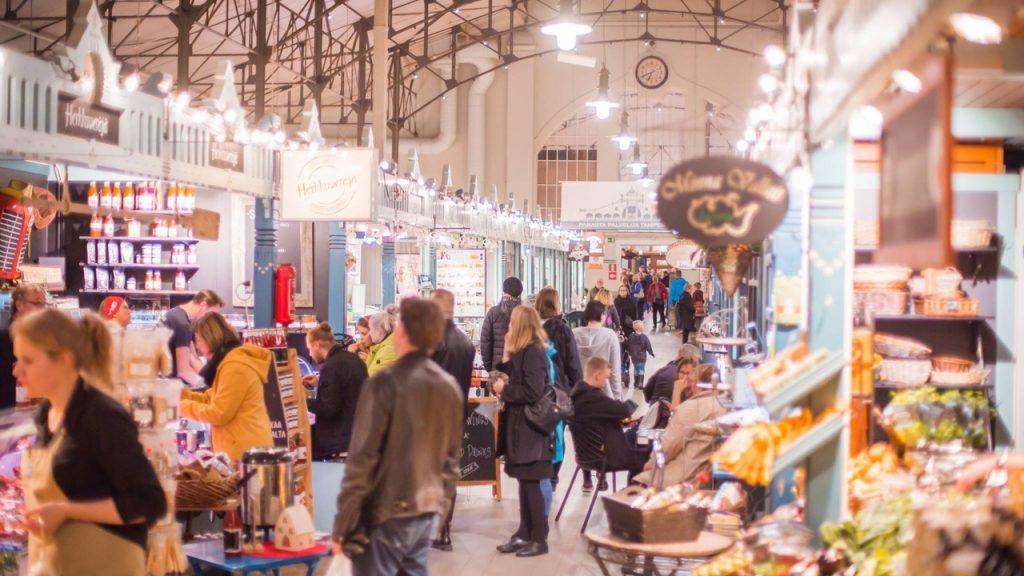Крытый рынок в Тампере. Фото: Laura Vanzo _ Visit Tampere