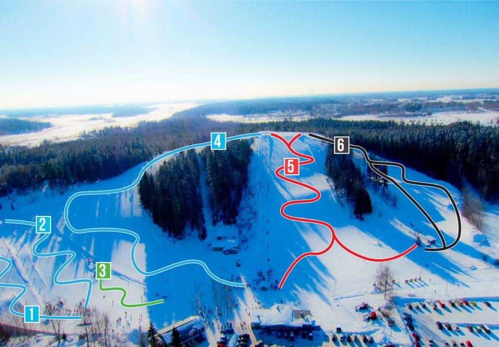 Горнолыжный центр Kokonniemi - карта склонов
