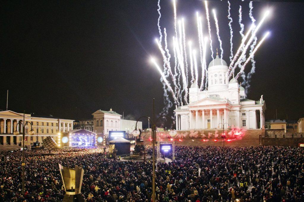 Новый год в Хельсинки. Фото: Lauri Rotko