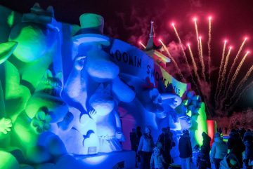 Открытие снежного замка муми-троллей в Рованиеми