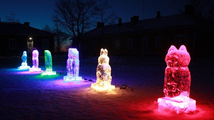 Ледяные скульптуры в Крепости Лаппеенранты 2018