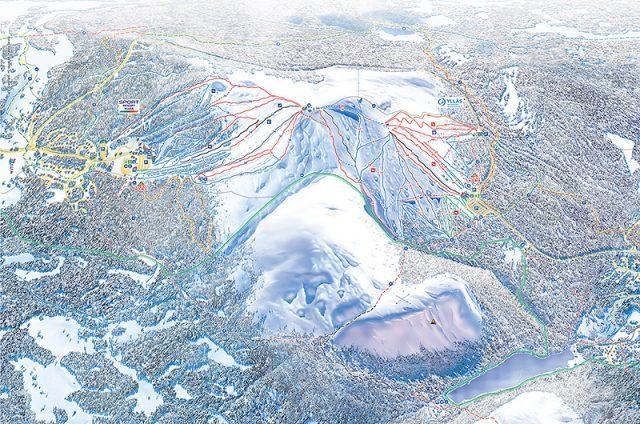 Карта склонов Юлляс
