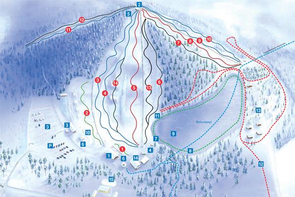 Карта склонов Хякя